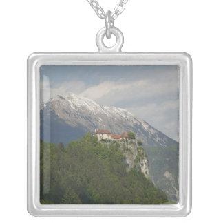 SLOVENIA, GORENJSKA, Bled: Bled Castle & 2 Silver Plated Necklace