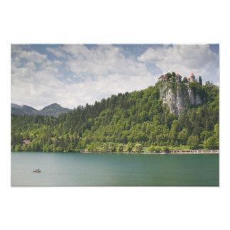 SLOVENIA, GORENJSKA, Bled: Bled Castle & Photo Print