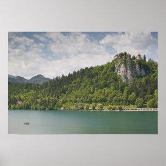SLOVENIA, GORENJSKA, Bled: Bled Castle & Poster