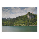 SLOVENIA, GORENJSKA, Bled: Bled Castle & Print