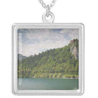 SLOVENIA, GORENJSKA, Bled: Bled Castle & Silver Plated Necklace