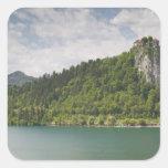 SLOVENIA, GORENJSKA, Bled: Bled Castle & Square Sticker