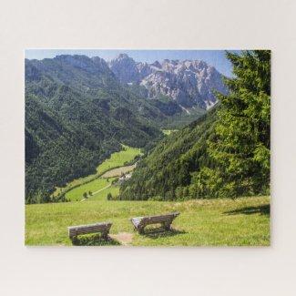 Slovenia Jigsaw Puzzle - Solcava panorama road