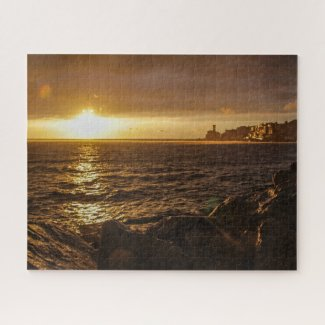 Slovenia Jigsaw Puzzle - Sunset over Piran