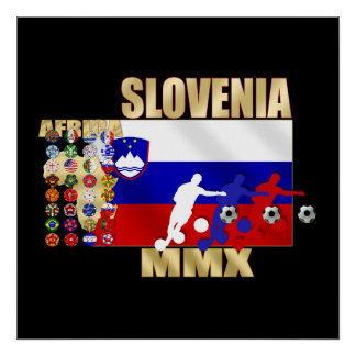 Slovenia large flag 32 qualifying countries gifts posters