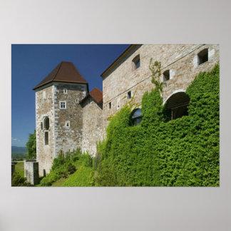 SLOVENIA, Ljubljana: Castle Hill / Ljubljana Poster