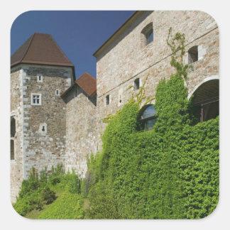 SLOVENIA, Ljubljana: Castle Hill / Ljubljana Square Sticker