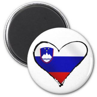 Slovenia Love - I heart Slovenia flag gifts 2 Inch Round Magnet