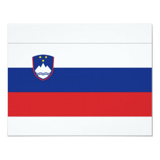 Slovenia National Flag Card