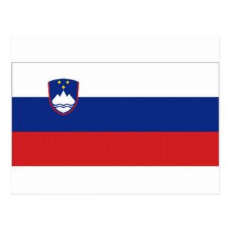 Slovenia National Flag Post Card