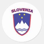 Slovenia Round Stickers