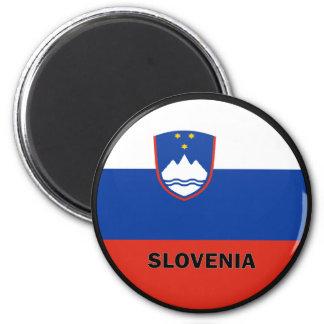Slovenia Roundel quality Flag 2 Inch Round Magnet