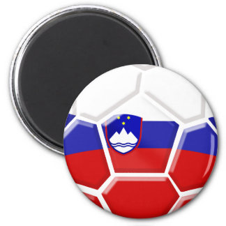 Slovenia Soccer 2 Inch Round Magnet