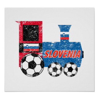 Slovenia Soccer Engine Posters