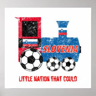 Slovenia Soccer Engine Poster