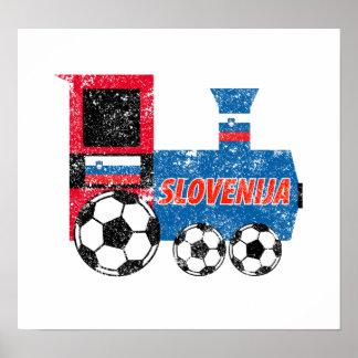 Slovenia Soccer Engine Print