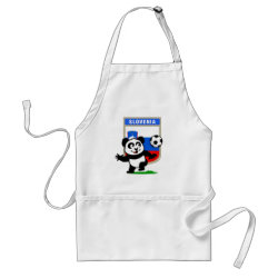 Apron with Slovenia Football Panda design