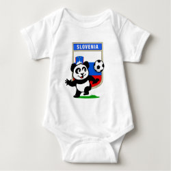 Baby Jersey Bodysuit with Slovenia Football Panda design