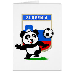 Slovenia Football Panda Greeting Card