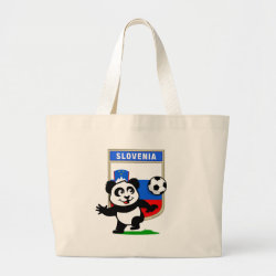 Jumbo Tote Bag with Slovenia Football Panda design