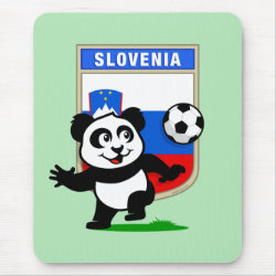 Mousepad with Slovenia Football Panda design