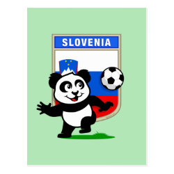 Slovenia Football Panda Postcard