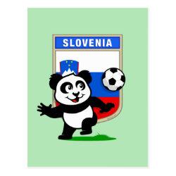 Postcard with Slovenia Football Panda design