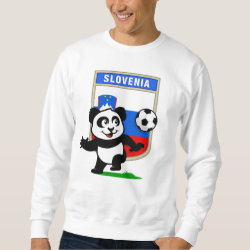 Men's Basic Sweatshirt with Slovenia Football Panda design