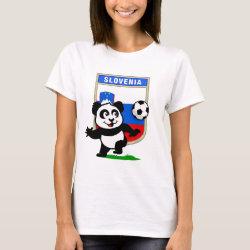 Women's Basic T-Shirt with Slovenia Football Panda design