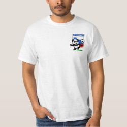 Men's Crew Value T-Shirt with Slovenia Football Panda design