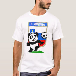 Slovenia Football Panda Men's Basic T-Shirt