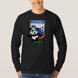 Men's Basic Long Sleeve T-Shirt with Slovenia Football Panda design
