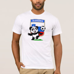 Men's Basic American Apparel T-Shirt with Slovenia Football Panda design