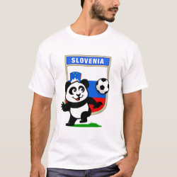 Men's Basic T-Shirt with Slovenia Football Panda design