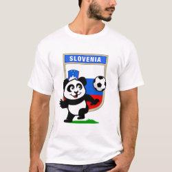 Men's Basic T-Shirt with Slovenia Football Panda design