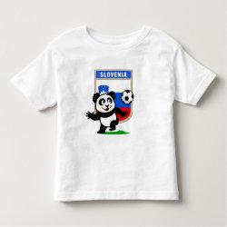 Toddler Fine Jersey T-Shirt with Slovenia Football Panda design