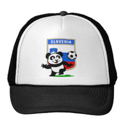 Slovenia Football Panda Trucker Hat