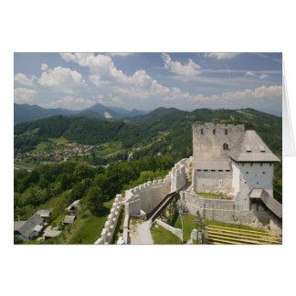 SLOVENIA, STAJERSKA Styria), Celje: Town View Greeting Card