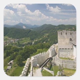 SLOVENIA, STAJERSKA Styria), Celje: Town View Square Sticker