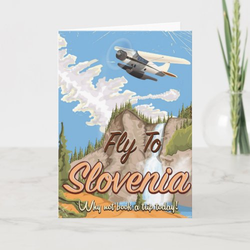 Slovenia Vintage style travel poster