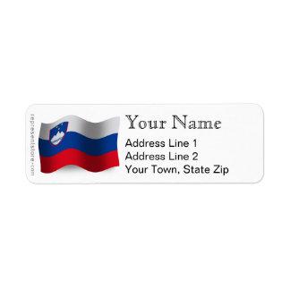 Slovenia Waving Flag Custom Return Address Labels