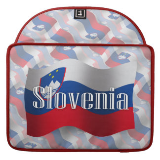Slovenia Waving Flag Sleeve For MacBook Pro