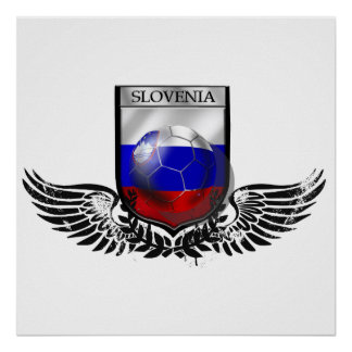 Slovenia winged crest classic soccer futbal gifts posters