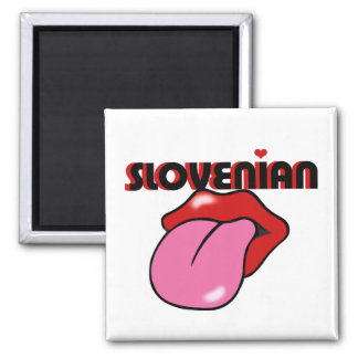 Slovenian 2 Inch Square Magnet