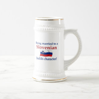 Slovenian Builds Character Beer Stein