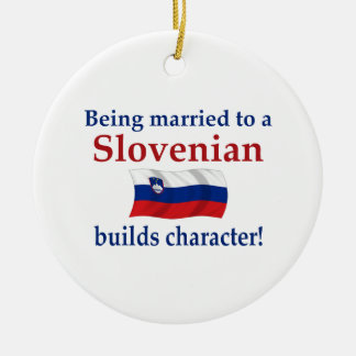 Slovenian Builds Character Ceramic Ornament