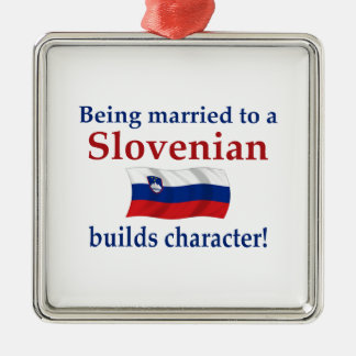 Slovenian Builds Character Metal Ornament