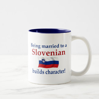 Slovenian Builds Character Two-Tone Coffee Mug
