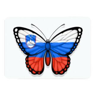 """Slovenian Butterfly Flag 5"""" X 7"""" Invitation Card"""