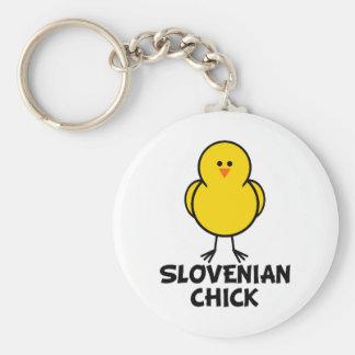 Slovenian Chick Keychains